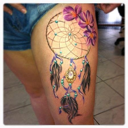 watercolor tattoo 5 years later best 25 dreamcatcher thigh ideas on