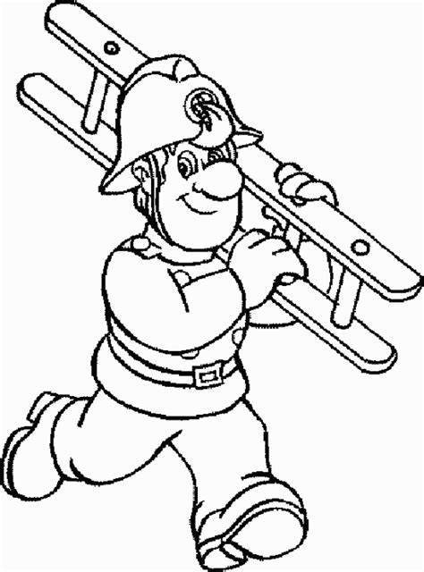 Fireman Sam Coloring Pages Coloringpagesabc Com Fireman Coloring Pages