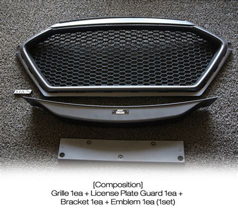 New Ayla 2017 List Grill Radiator Front Grill Radiator Trim 4 Pcs Front Radiator Grille Sports Grille Unpainted For Hyundai 2017 Elantra Ad 8809510800818