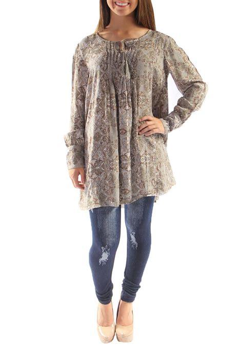 Sale Dress Simpy Exotica Baju Tunic Tunik Hoodie Korea Wanita Remaj simply noelle scroll print tunic from arkansas by martin s shoptiques