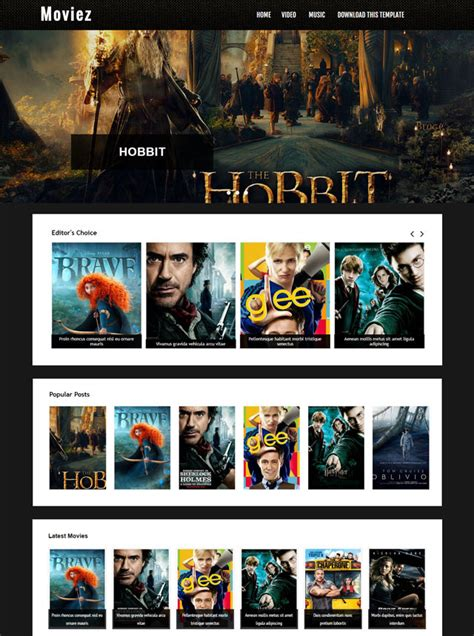blogger templates for movie site top 10 movie templates for blogger 2016