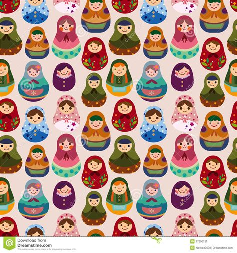 russian doll design wallpapers seamless russian doll pattern royalty free stock images