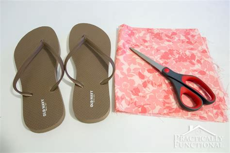 how to make flip flops comfortable how to make fabric flip flops for under 5
