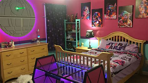 this star wars room is every boy s dream complete with fully operational fandom emmie s ultimate star wars