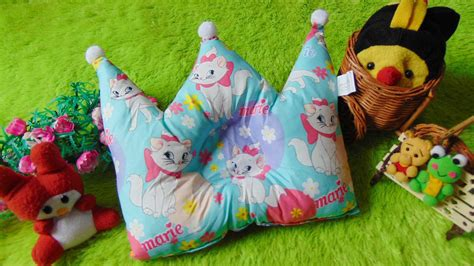 Bantal Peyang Baby Crown kado bayi bantal mahkota crown pillow bantal peyang peang bayi baby motif kucing tosca