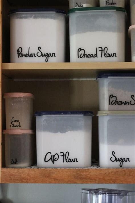 Custom Pantry Labels by I These Organized Pantry Labels And The Containers