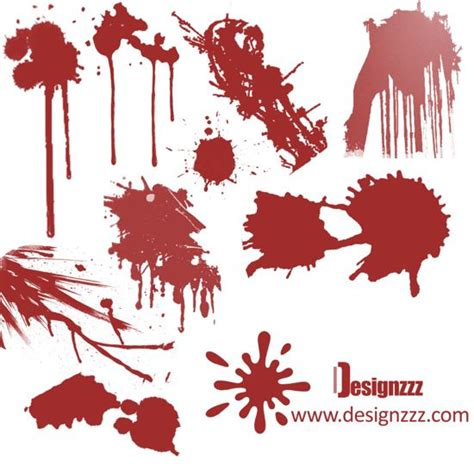 blood paint designzzz brush pack 2 hi res paint and blood brushes