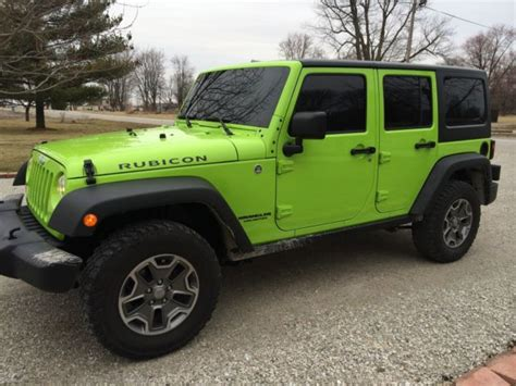 green jeep rubicon 2013 gecko green jeep wrangler rubicon 4wd