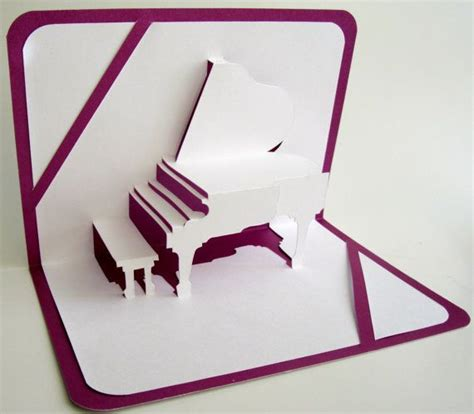 Grand Piano Pop Up Card Free Template by Best 25 Pop Up Greeting Cards Ideas On Diy