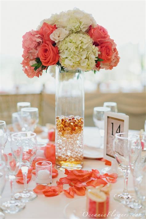 summer wedding centerpieces coral www imgkid com the