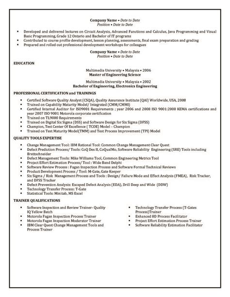 writing resume australia exle australian resume exles of resumes