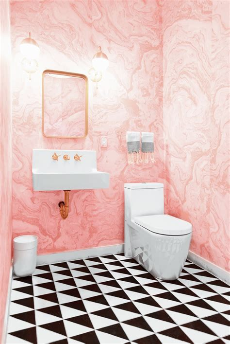 Modern Pink Tile Bathroom Creating The Glam Modern Bathroom At Light Lab