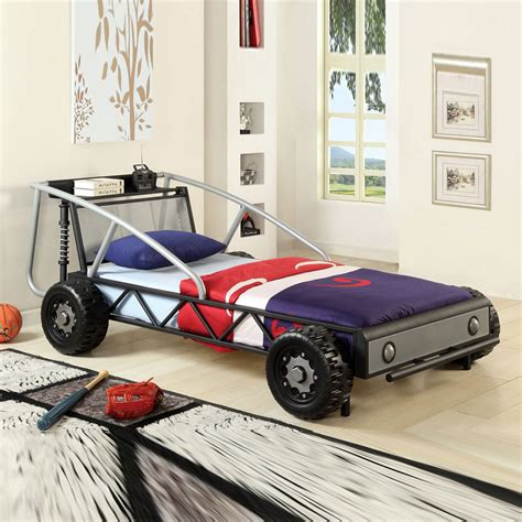 Youth Lovely Nice Gift Kids Boys Children Race Car Twin Bed Study Metal Frame Ebay