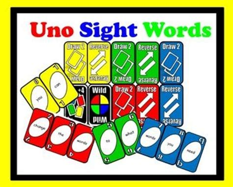 free uno card template free microsoft word changable uno sight word cards