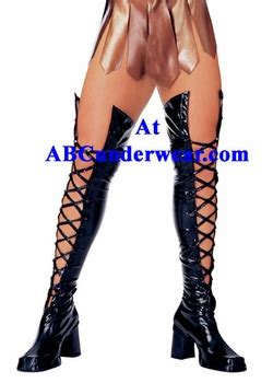 lace thigh high boot tops