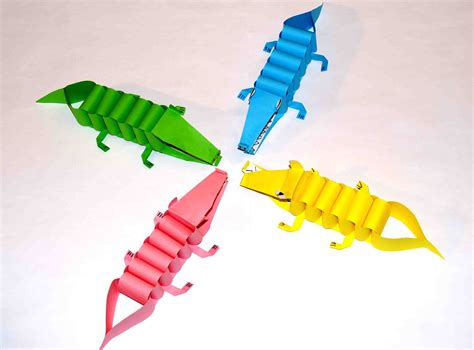 paper crafts diy paper crafts paper craft for paper crocodiles