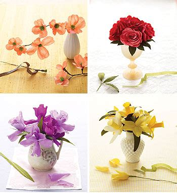 Martha Stewart Crafts Paper Flowers - not martha martha stewart craft crepe paper flower kits