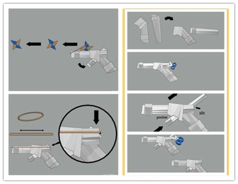 How To Make A Paper Pistol - paper gun images