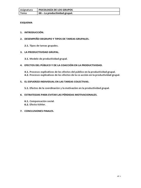 08 - La Productividad Grupal   Motivación   Autosuperación
