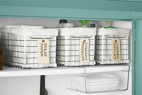 Linen Closet Storage Bins by Linen Closet Organization Ideas How To Organize A Linen