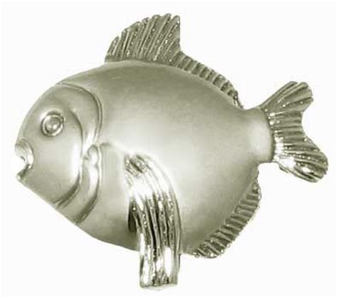 Fish Cabinet Knobs by Lot Of 25 Nickel Finish 1 1 2 Quot Cabinet Knobs Fish Bn Ebay