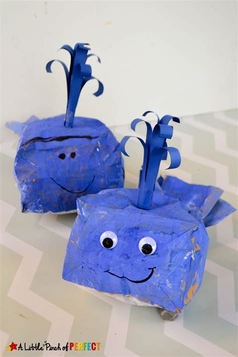 Paper Bag Whale Craft - blue whale paper bag craft and template for