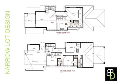 floor plans narrow lot luxury house plans for narrow lots home design and style