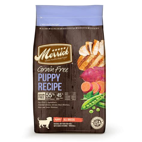 food grain free merrick grain free puppy recipe food 4 lb bag