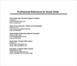 professional references template 11 sle professional reference templates sle
