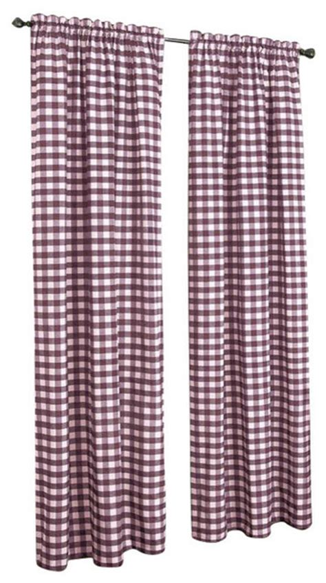 Burgundy Check Curtains Buffalo Check Pattern Panel 42 Quot X63 Quot Burgundy Curtains By Achim Importing Co