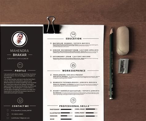 10 Gorgeous Minimalist Resume Templates The American Genius Minimalist Resume Template