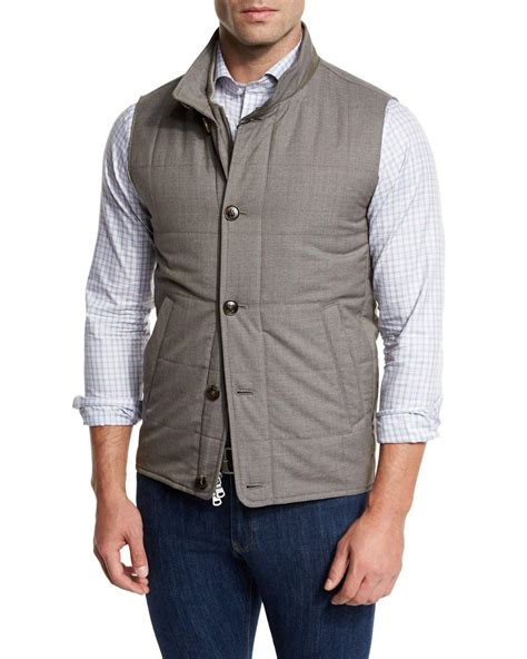 Quilted Wool Vest by Millar Caravan Quilted Wool Vest In Brown For Lyst