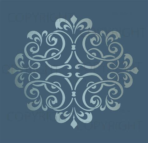 wall pattern stencils uk large wall damask stencil pattern faux mural 1012 ebay