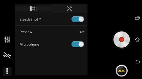 Kamera Belakang Sony Z1 paparan skrin aplikasi kamera untuk sony sirius tertiris membawakan sokongan rakaman 4k amanz