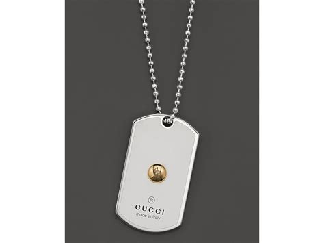 G Pendant 30000 Cpm Spesial Logo lyst gucci sterling silver and 18k yellow gold and white enamel limited edition grammy dogtag