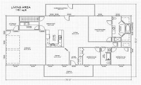 one level house plans with basement single story open floor plans ranch house floor plans with