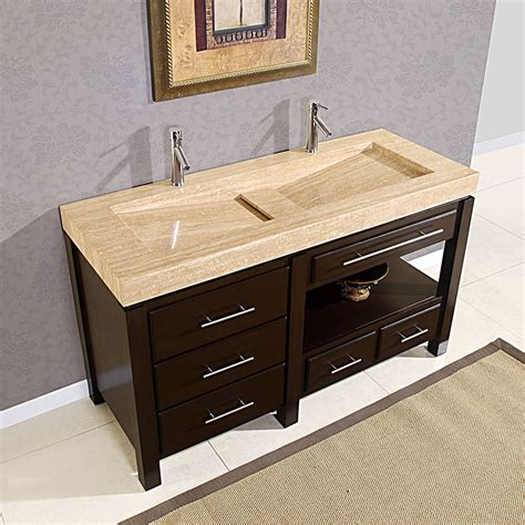 Bathroom Design 60 Quot King Modern Double Trough Sink Bathroom Cabinets With Sink
