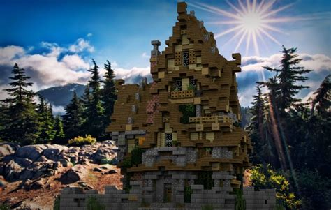 Lighthouse House Plans two story medieval house minecraft house design