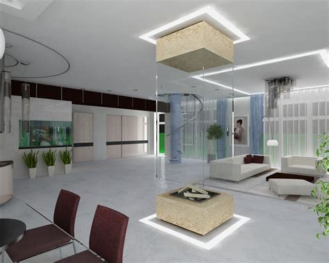 modern high tech living space interior design interior