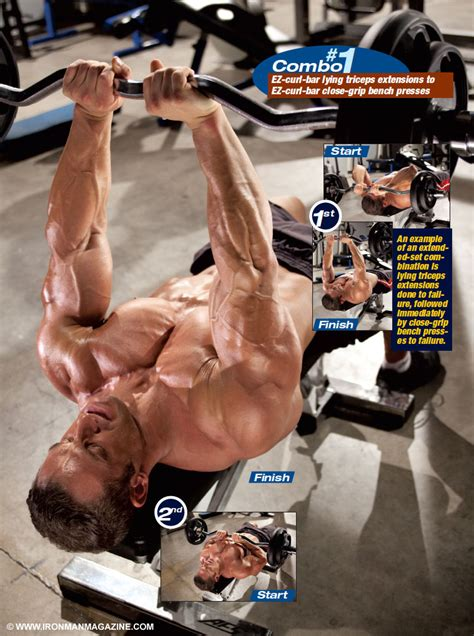 ez curl bar bench press get great guns with extended sets combo 1 iron man