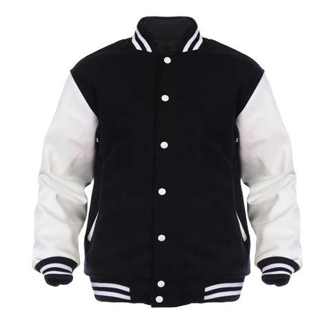 College Letter Jackets black varsity college letterman wool leather jacket ebay