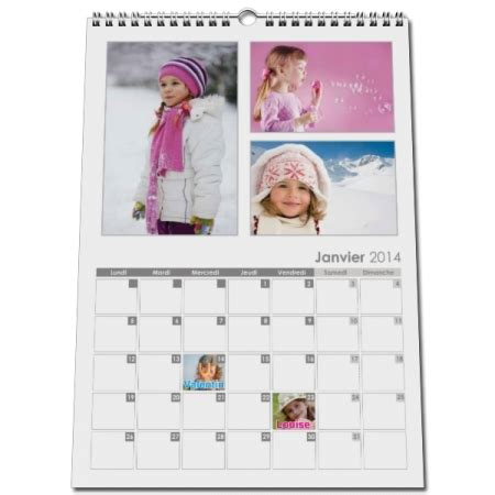 Calendrier Photo Calendrier Mural Photo Personnalis 233 A Cr 233 Er Avec Photos