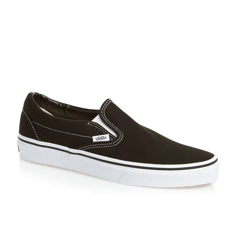 shoes vans vans classic slip on shoes black free uk delivery on