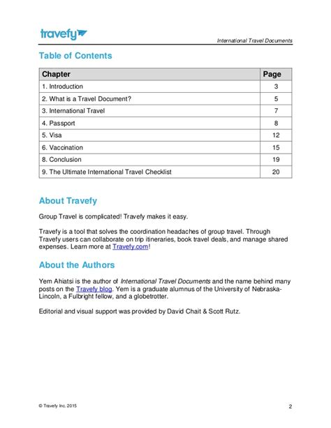 International Travel Documents guide to international travel documents