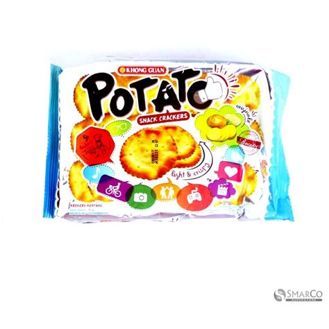 Khong Guan Crackers detil produk khong guan potato snack cracker 70 gr