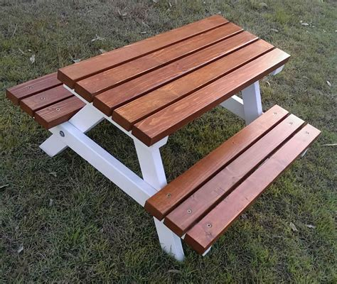 wooden outdoor table 1 5 years quality handmade kid s timber picnic table
