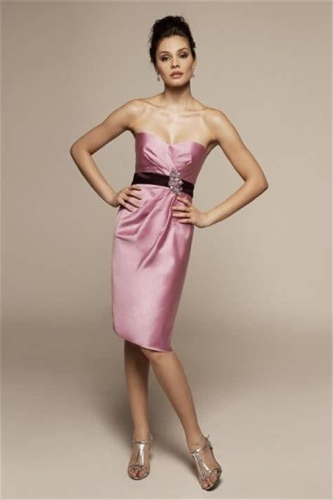 Robe De Cocktail En Satin - robe cocktail de mariage bustier courte en satin