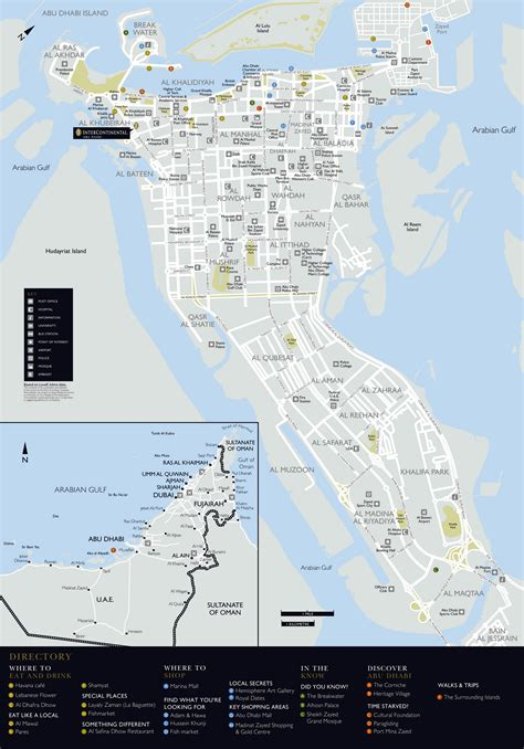 road map uae large detailed road and tourist map of abu dhabi city