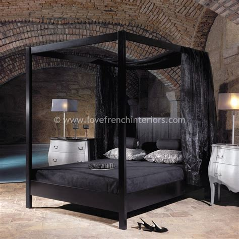 black four poster bed frame four poster bed in satin black