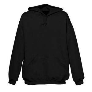 Single Plain Black Hoodie XXL Hooded Sweatshirt New   eBay